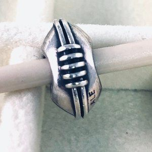 PANDORA Discontinued Football Charm, 790384